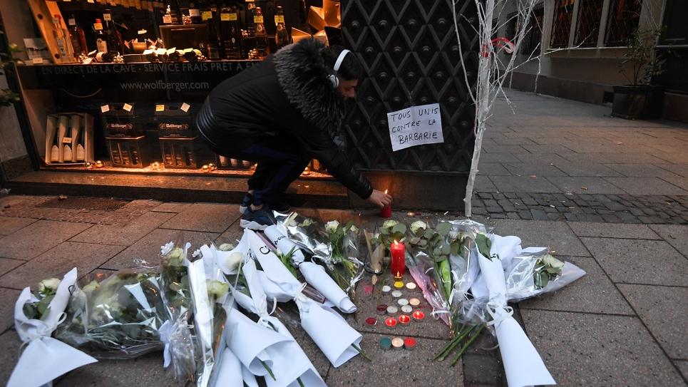 Hommages rendus aux morts à Strasbourg, le 12 décembre 2018