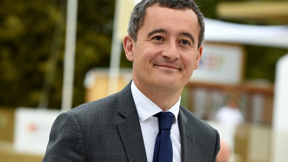 Le ministre des Comptes publics Gérald Darmanin arrive à l'université d'été du Medef, le 29 août 2019 dans l'ouest de Paris