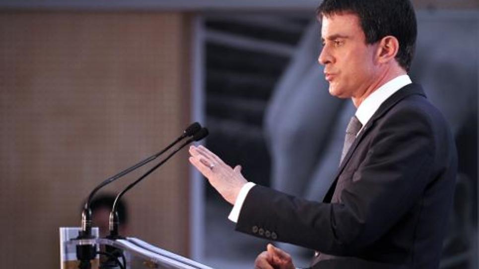 Le Premier ministre Manuel Valls, le 6 février 2015 à Orléans