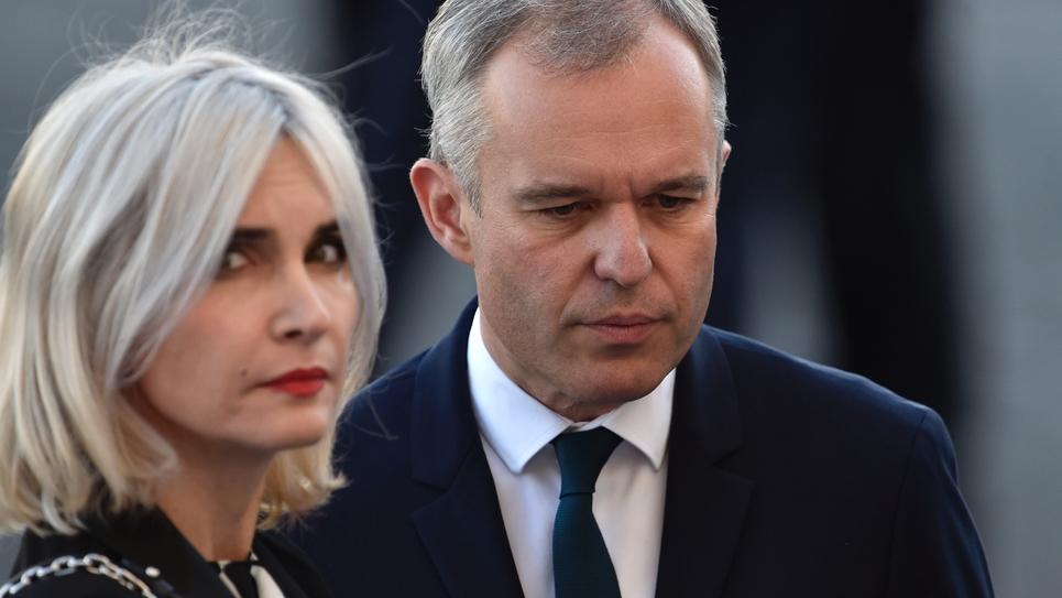 Séverine Servat de Rugy avec son époux le 14 juillet 2017