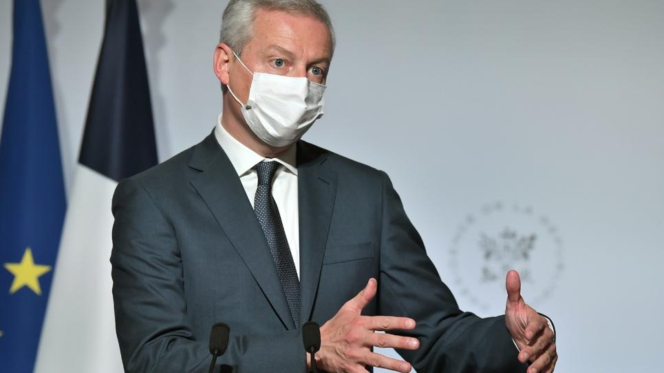 Le ministre de l'Economie Bruno Le Maire lors d'une conférence de presse, le 28 septembre 2020 à Paris