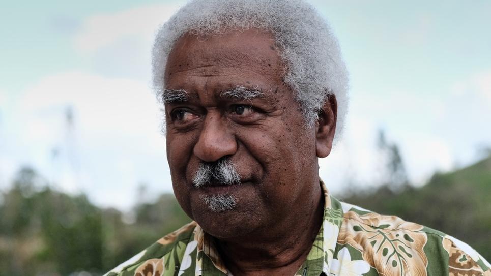 Roch Wamytan, leader de l'Union Calédonienne, à Nouméa le 30 octobre 2018
