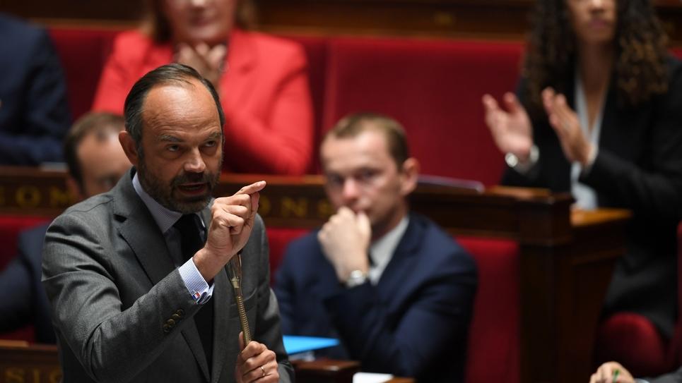 Le Premier ministre Edouard Philippe à l'Assemblée nationale, le 2 octobre 2018