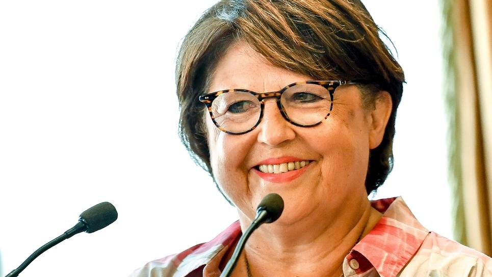 La maire de Lille Martine Aubry à la mairie de Lille, le 3 août 2018