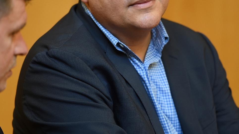 Le premier secrétaire de la Fédération socialiste de l'Hérault Hussein Bourgi, le 7 juin 2016 à Montpellier