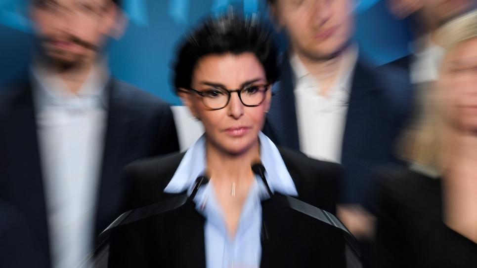 Rachida Dati lors de la présentation de son programme électoral pour la mairie de Paris, le 24 février 2020