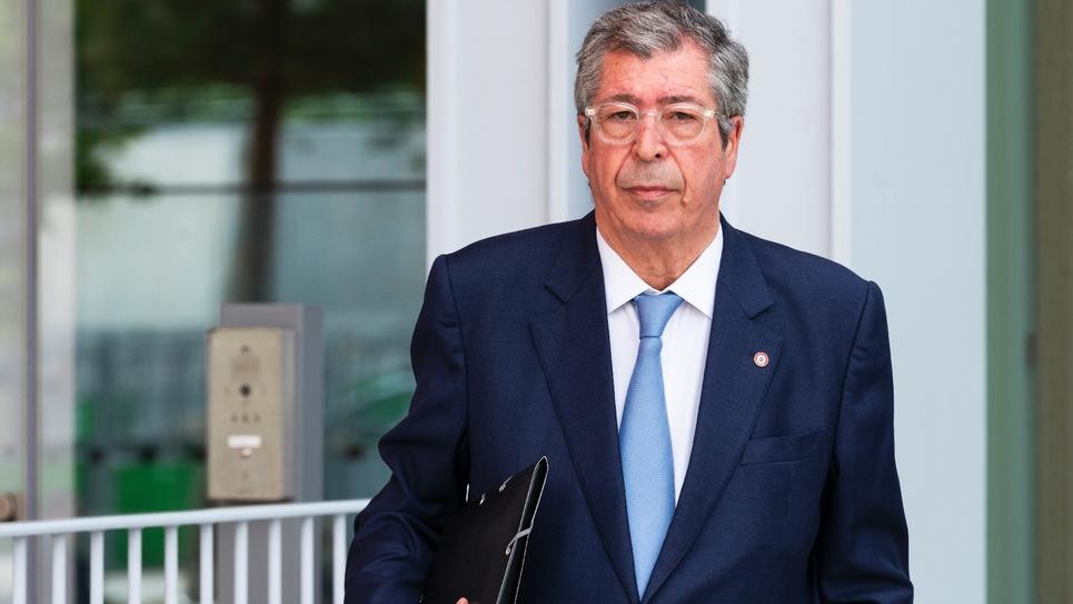 Patrick Balkany arrive au tribunal correctionnel de Paris le 22 mai 2019