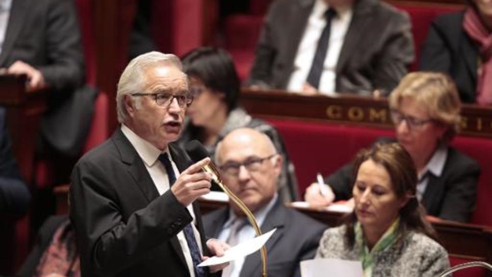 Le ministre du Travail Francois Rebsamen à l'Assemblée nationale le 28 janvier 2015