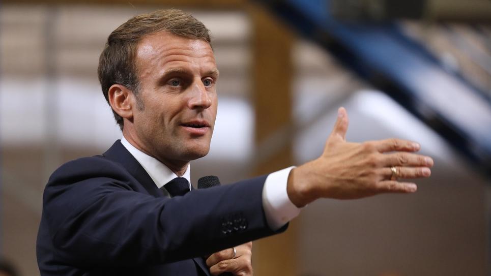 Le président français Emmanuel Macron à Bonneuil-sur-Marne le 10 septembre 2019