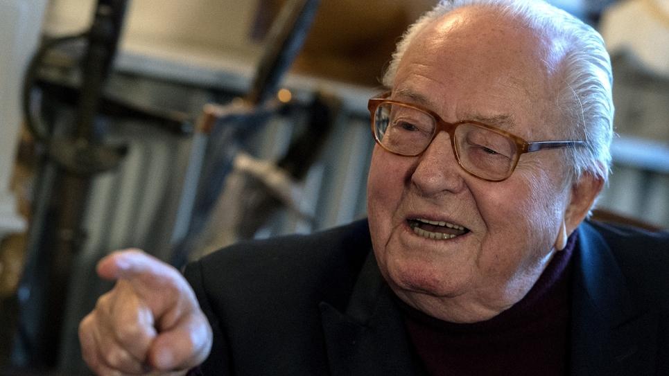 Jean-Marie Le Pen chez lui à Saint-Cloud dans les Hauts-de-Seine le 9 janvier 2019