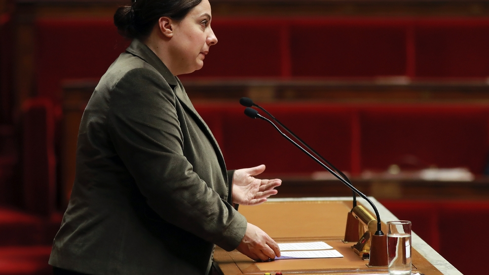 La ministre du Logement Emmanuelle Cosse à Paris le 1er décembre 2016