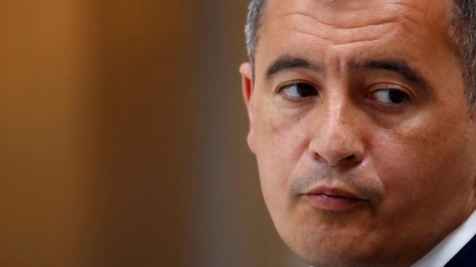 Le ministre de l'Intérieur français Gérald Darmanin à l'Elysée à Paris, le 28 avril 2021
