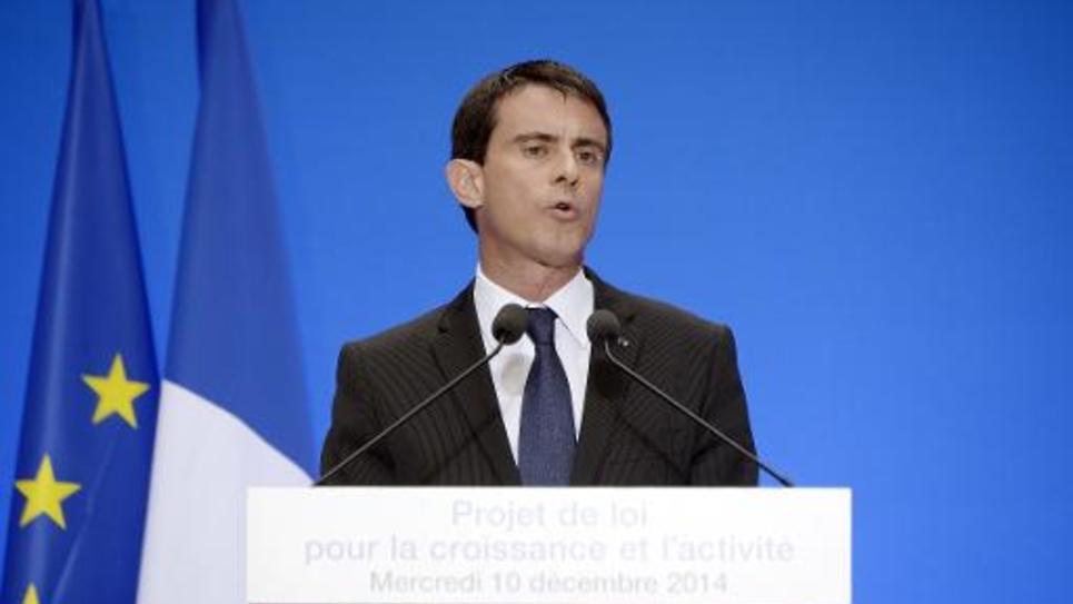 Le Premier ministre Manuel Valls à une conférence de presse à l'Elysée le 10 décembre 2014