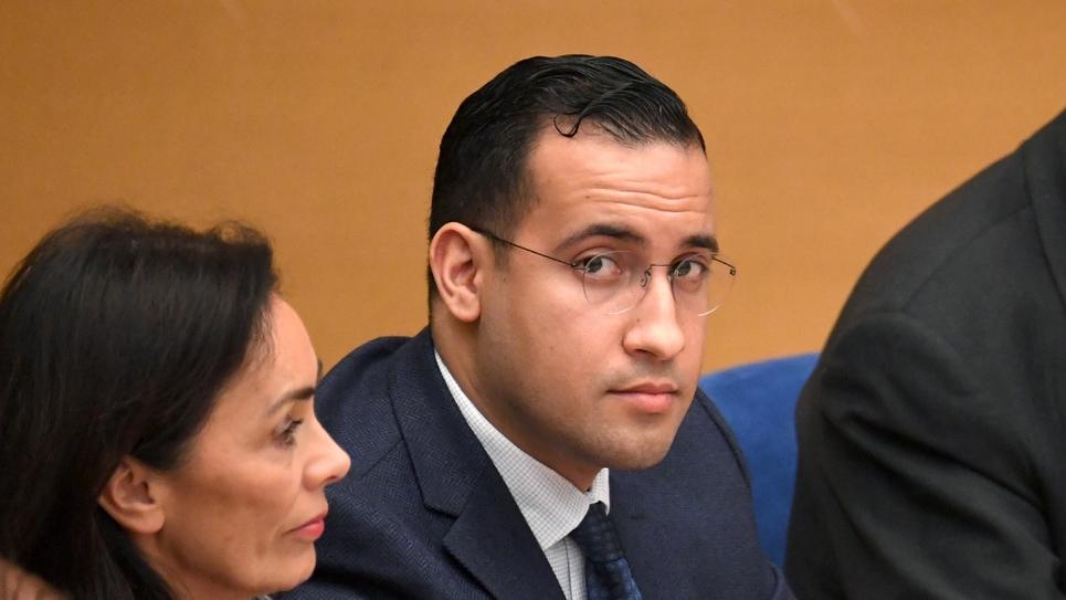 Alexandre Benalla avant son audition devant le Sénat, à Paris le 21 janvier 2019