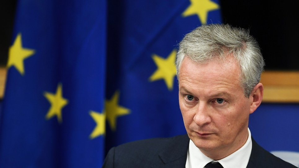 Le ministre de l'Economie Bruno Le Maire à Strasbourg, le 23 octobre 2018
