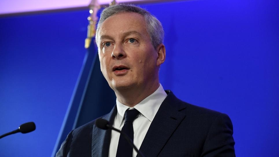 Le ministre de l'Economie Bruno Le Maire, lors d'une conférence de presse à Bercy le 3 décembre 2018.