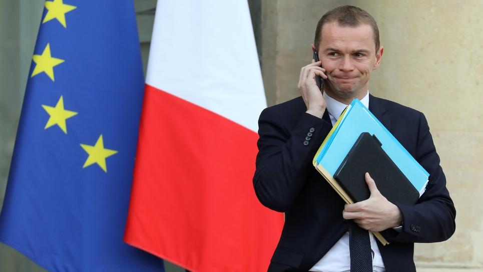 Le secrétaire d'Etat à la fonction publique Olivier Dussopt à Paris, le 24 janvier 2018