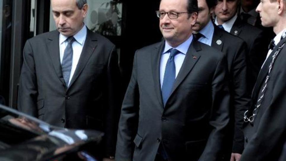 Le président François Hollande à l'ouverture du forum franco-africain le 6 février 2015 au ministère de l'Economie à Paris