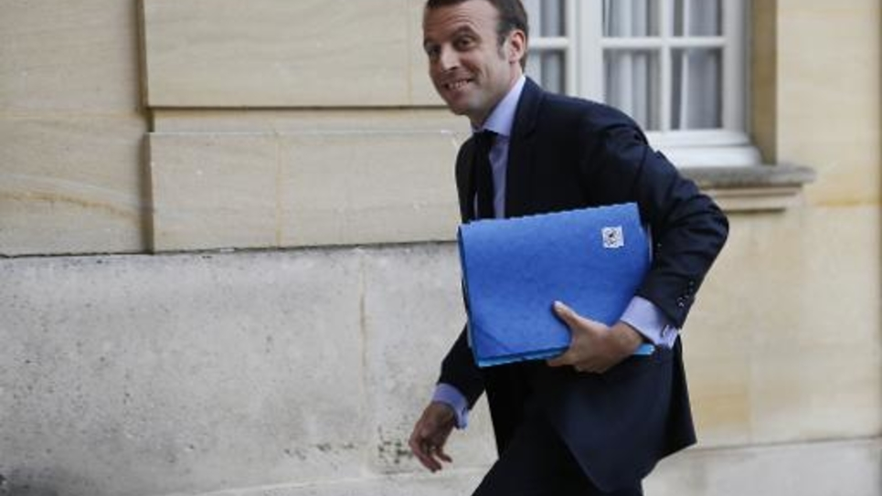 Le ministre de l'Economie Emmanuel Macron à Paris, le 1er juin 2015