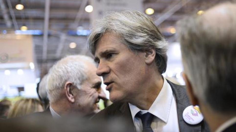 Le ministre de l'Agriculture Stephane Le Foll au Salon de l'agriculture à Paris le 24 février 2015