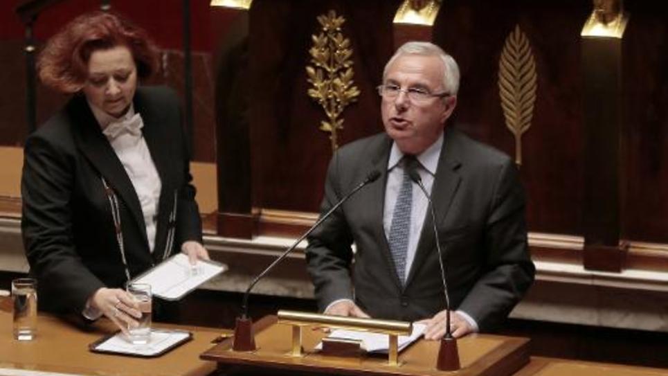 Le député UMP Jean Leonetti lors du débat sur la fin de vie le 10 mars 2015 à l'Assemblée nationale à Paris