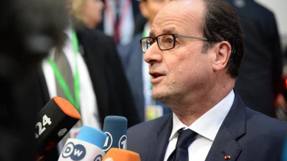 François Hollande au Sommet européen de Bruxelles, le 18 décembre 2014