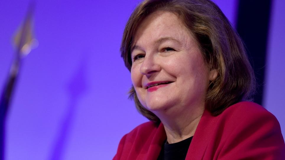 Nathalie Loiseau, à la tête d'une liste portée par LREM aux élections européennes, le 25 avril 2019 à Paris
