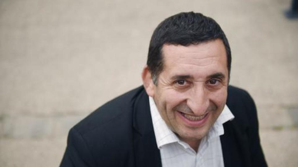 Le maire communiste de Stains, Azzedine Taïbi, le 3 avril 2014 à Stains