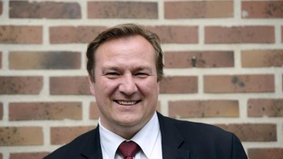 Le maire UDI de Bobigny, Stéphane de Paoli, à Bobigny, le 31 mars 2014
