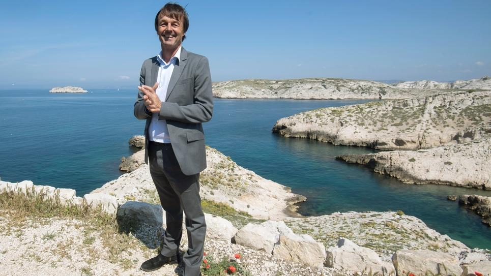 Nicolas Hulot aux îles du Frioul à Marseille en mai 2018