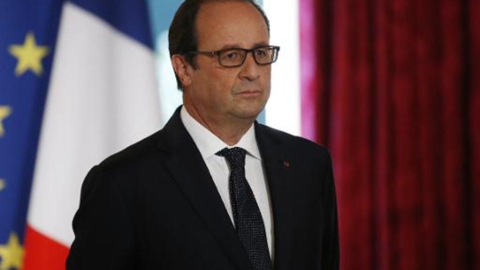 François Hollande le 30 septembre 2014 à l'Elysée à Paris