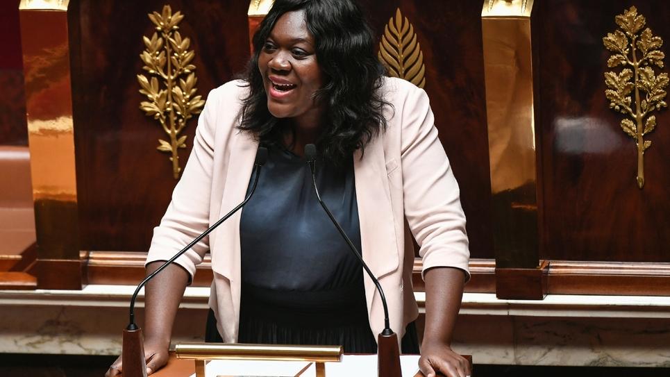 La députée LREM Laetitia Avia, à l'Assemblée nationale, à Paris, le 3 juillet 2019