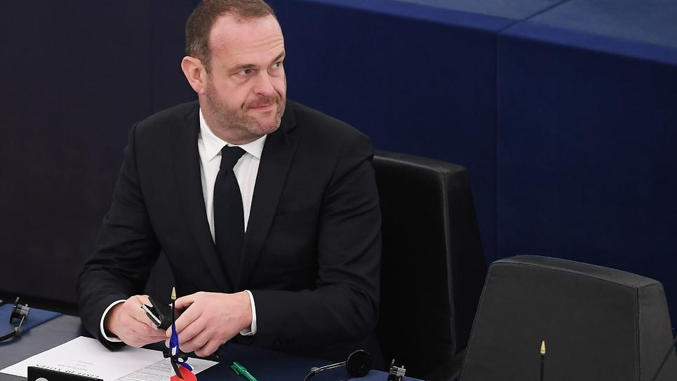 L'eurodéputé du FN Steeve Briois au Parlement européen le 6 février 2018 à Strasbourg