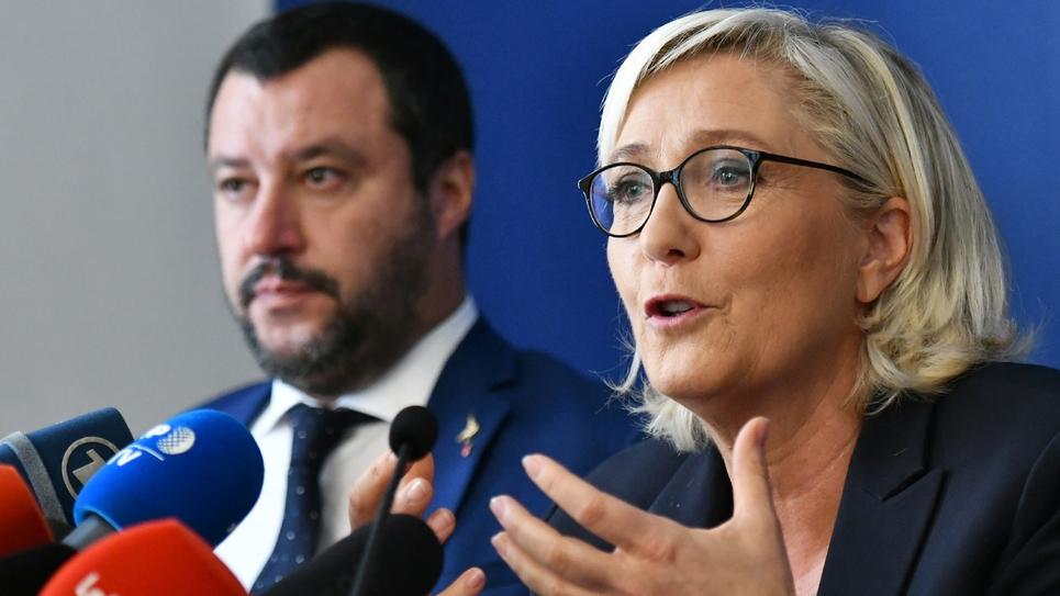 Matteo Salvini et Marine Le Pen en octobre 2018 à Rome