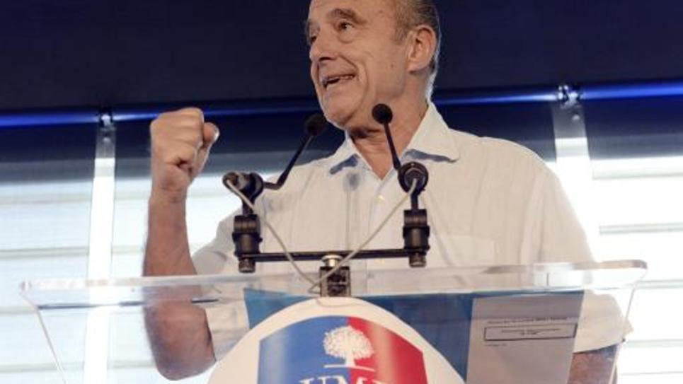 Le maire UMP de Bordeaux Alain Juppé lors d'une assemblée générale de la fédération girondine du parti, le 19 octobre 2014 à Bordeaux