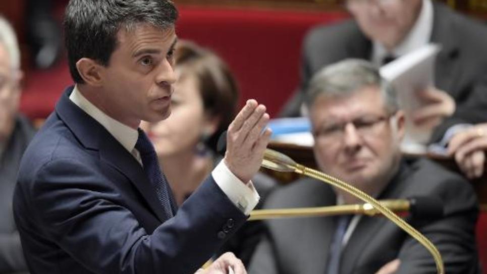 Le Premier ministre Manuel Valls à l'Assemblée Nationale, le 31 mars 2015