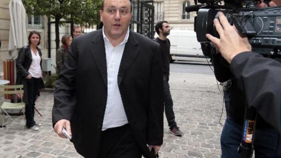 Le socialiste Julien Dray, le 25 septembre 2012 au siège du PS, rue de Solferino à Paris