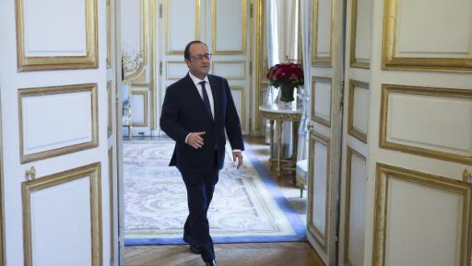 Le président François Hollande à l'Elysée le 11 décembre 2014