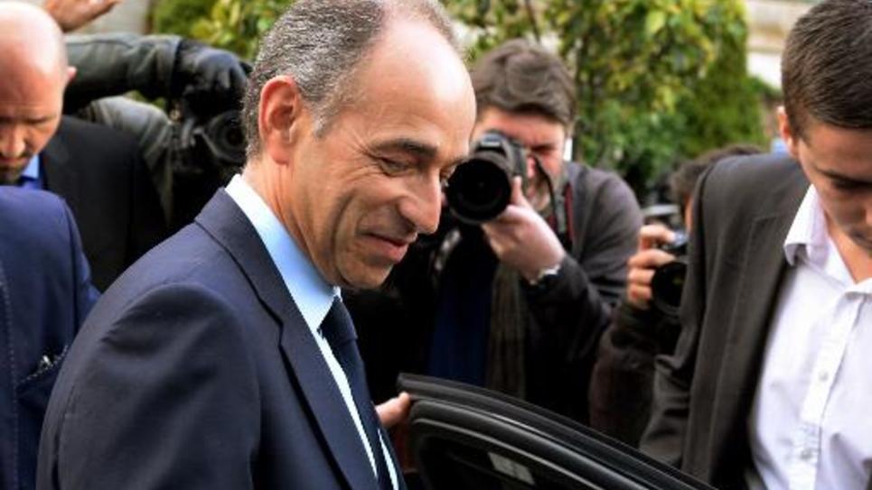 Jean-Francois Copé à la sortie de TF1 le 27 mai 2014 à Boulogne-Billancourt