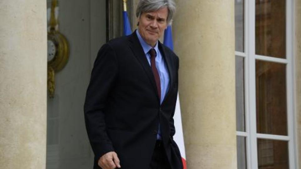 Le ministre français de l'Agriculture Stéphane Le Foll quitte le palais de l'Elysée à Paris le 20 novembre 2014