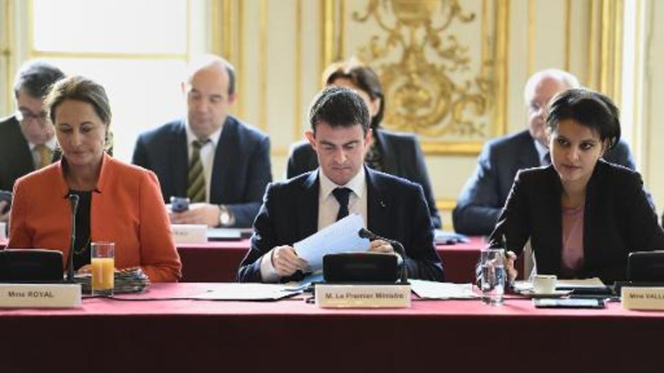 Le Premier ministre Manuel Valls, le 22 janvier 2015 à l'Hôtel Matignon à Paris