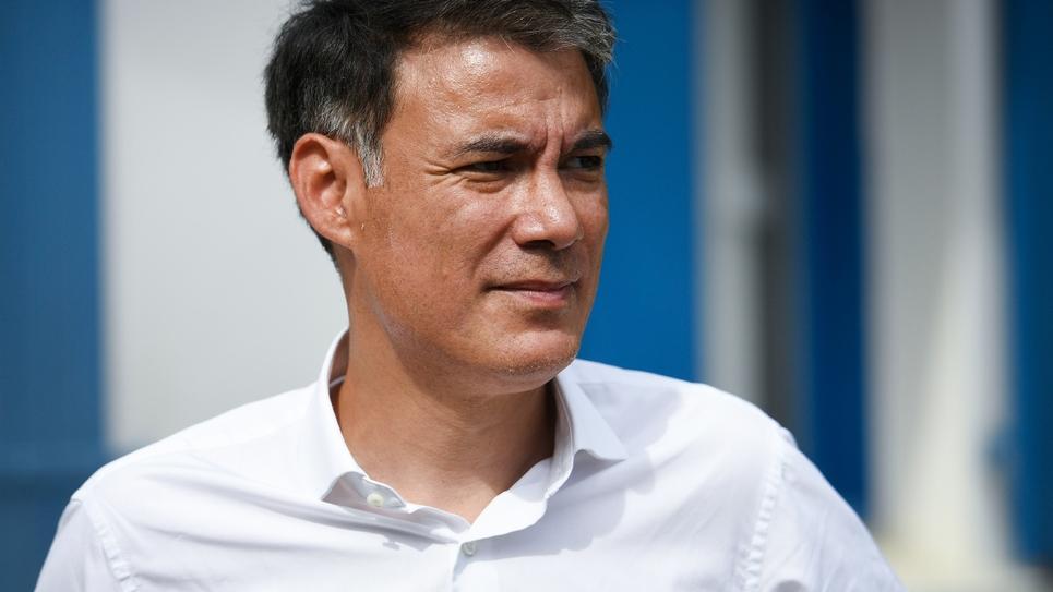 Le premier secrétaire du PS Olivier Faure, photographié en septembre 2018 à Le Relecq-Kerhuon