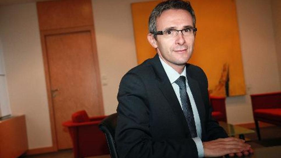 Stéphane Troussel, président socialiste du conseil général de Seine Saint-Denis, le 5 novembre 2013 à Bobigny