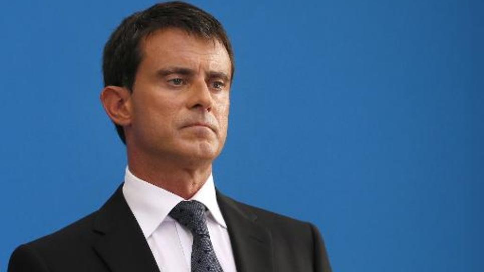 Le Premier ministre Manuel Valls lors d'une conférence de presse à Matignon, le 29 août 2014 à Paris