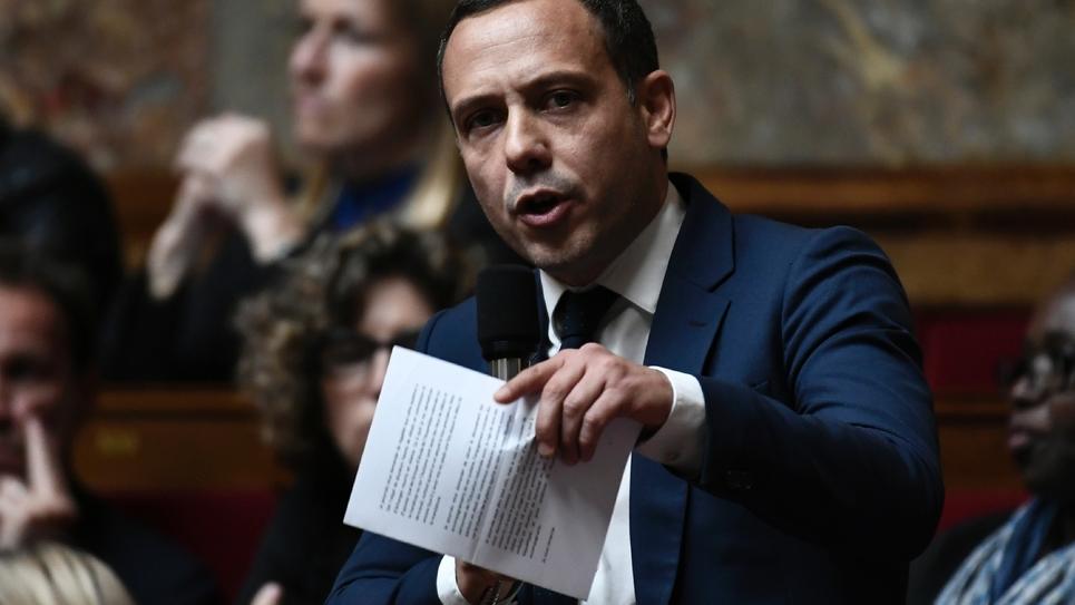 Le député LREM Adrien Taquet à l'Assemblée nationale le 16 octobre 2018