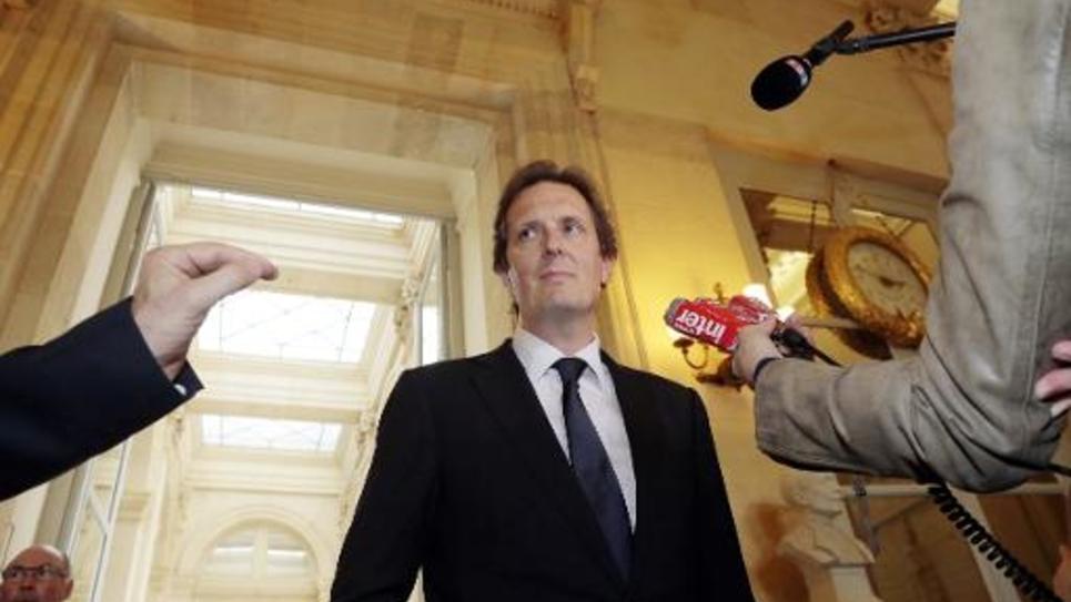 Le député UMP du Val-d'Oise Jérôme Chartier à l'Assemblée nationale, le 29 avril 2014