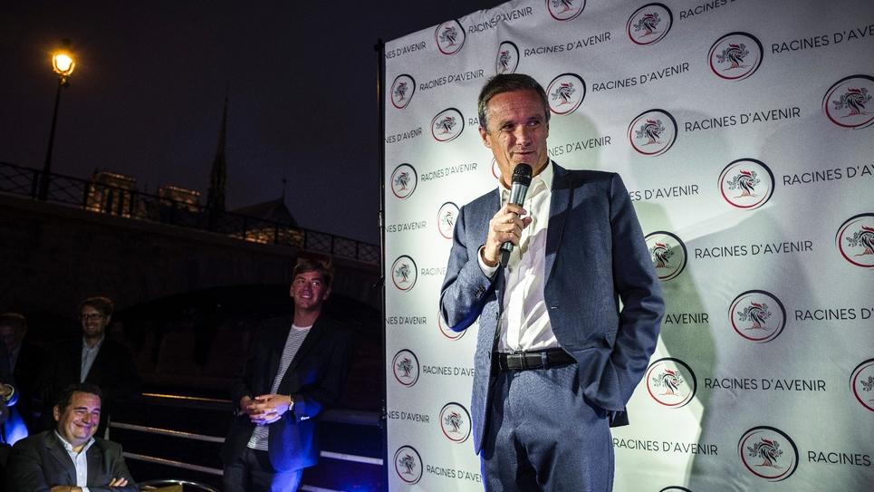 Eric Dupont-Aignan, le président de Debout la France (DLF), ici à Parisn le 5 septembre 2018, a annoncé sa candidature aux élections européennes