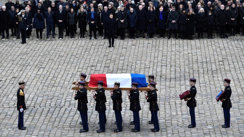 Cérémonie aux Invalides en hommage à Jean Daniel, le 28 février 2020