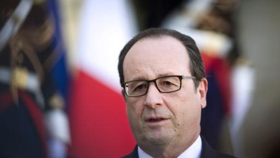 François Hollande sur le perron de l'Elysée le 31 octobre 2014 à Paris