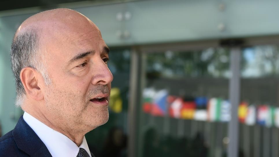 Pierre Moscovici à Luxembourg, le 1er octobre 2018
